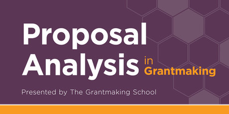 Proposal Analysis in Grantmaking tickets