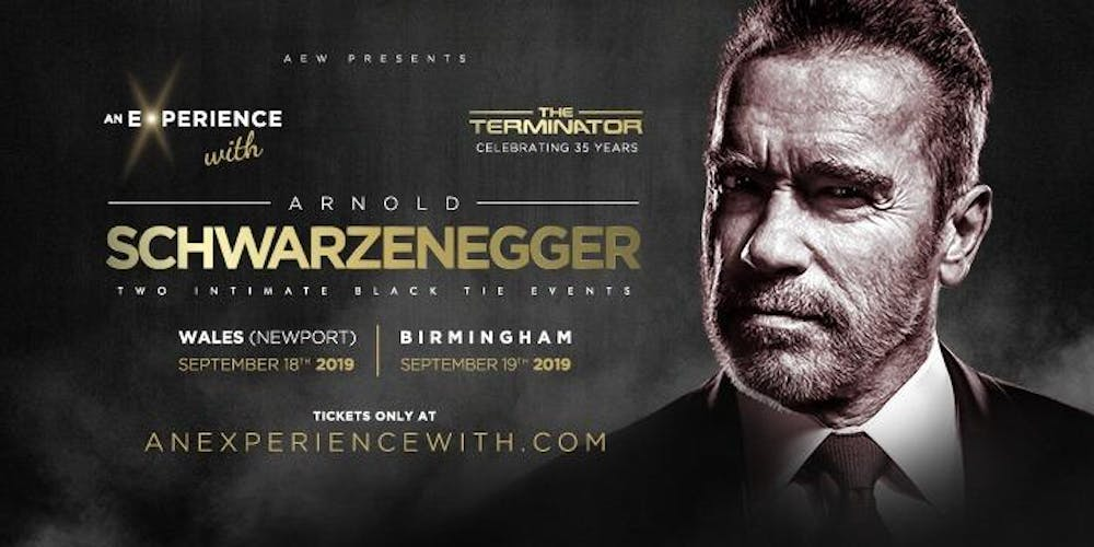 An Experience With Arnold Schwarzenegger 2019 (Wales) Tickets, Wed