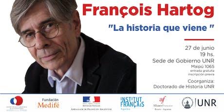 """Conferencia François Hartog  """"La Historia que viene"""" entradas"""