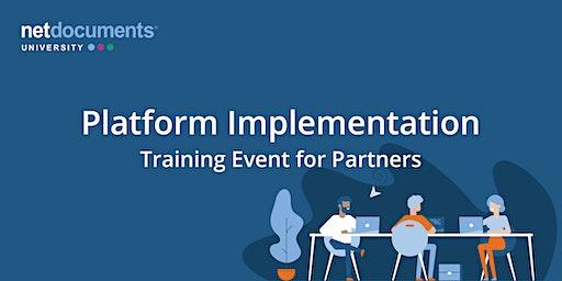 NetDocuments Platform Implementation | Virtual Training | Jan 27–31, 2020