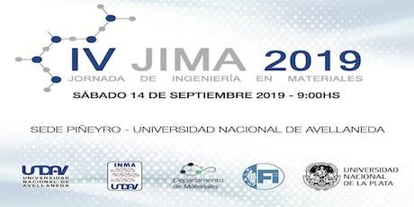 IV Jornada de Ingeniería en Materiales 2019 - UNDAV/UNLP entradas