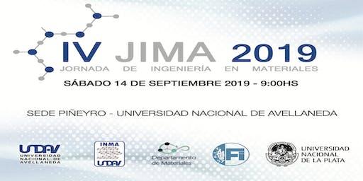 IV Jornada de Ingeniería en Materiales 2019 - UNDAV/UNLP