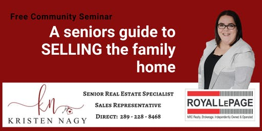 A Seniors Guide to Selling the Family Home