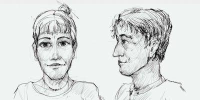 Learn to draw portrait. Lernen ein Porträt zu zeichnen.