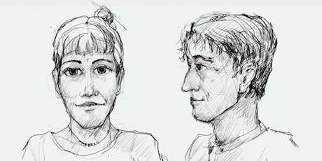Learn to draw portrait. Lernen ein Porträt zu zeichnen. Tickets