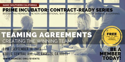 PRIME INCUBATOR: Teaming Agreements