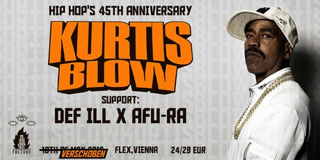 Kurtis Blow  'Hip-Hop's 45th Anniversary' tickets