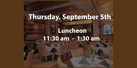 2019 September 5th Luncheon tickets