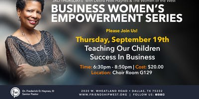 Business Women's Empowerment Series - How to Network with Sister to Make A Win Win!