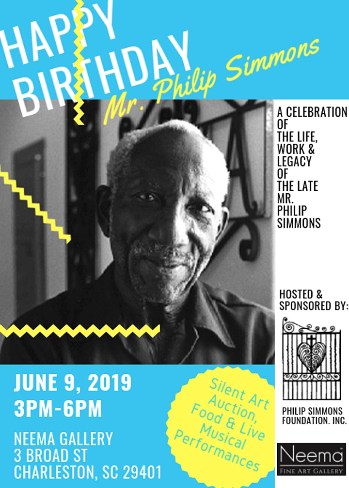 Happy Birthday Mr. Philip Simmons: A Celebration of his Life, Work & Legacy image