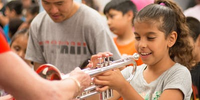Musical Instrument Petting Zoo at Haskett Branch