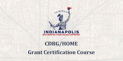 HOME & CDBG Grant Certification Training