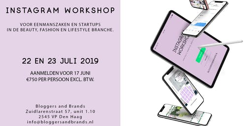 Instagram Workshop In Den Haag 22 juli 2019