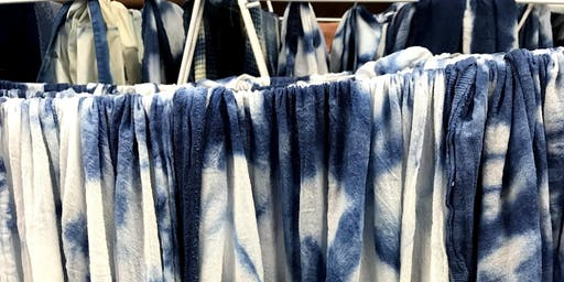 Indigo and Shibori Dyeing Workshop: September 14, 10:30am-12pm