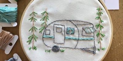 Vintage Trailer Embroidery Workshop