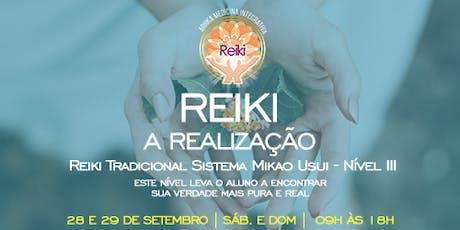 Iniciação Reiki nível 3 ingressos