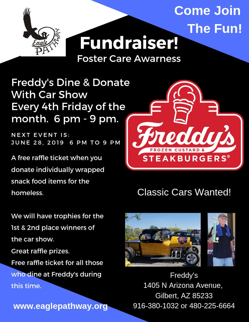 Eagle Pathway's Dine and Donate Care Show At Freddy's