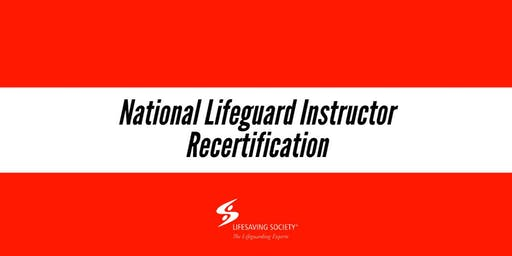 National Lifeguard Instructor Recertification - New West
