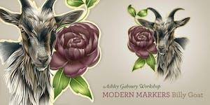 Modern Markers Workshop: Billy Goat