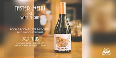 Six course menu with Paso Primero Wine Flight