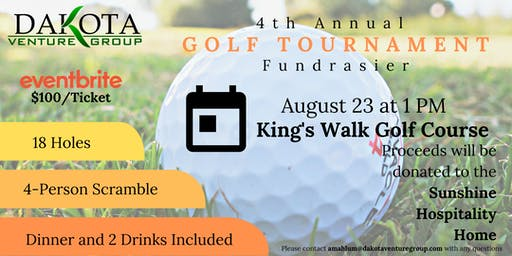 Dakota Venture Group 4th Annual Golf Tournament