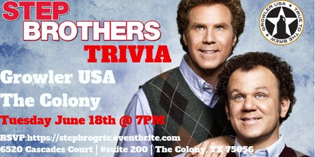 Step Brothers Trivia at Growler USA The Colony tickets