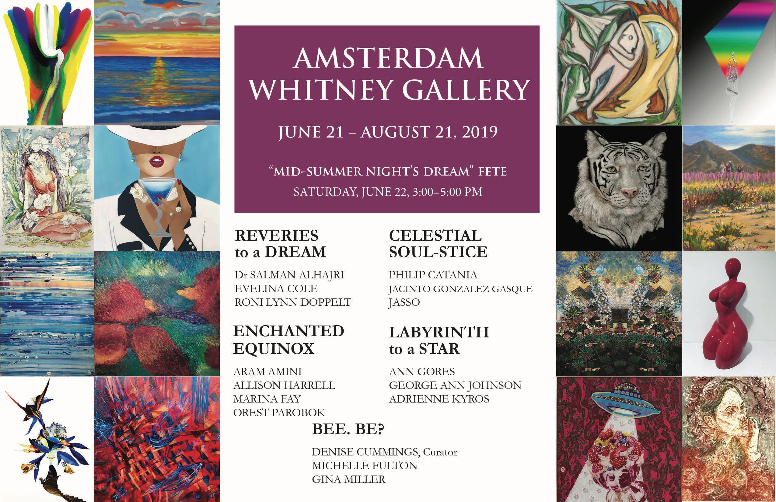 Amsterdam Whitney's JUNE 2019 Exhibition banner