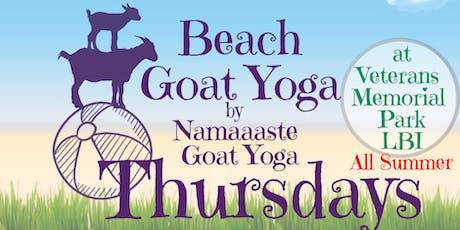 Beach Goat Yoga LBI Thursday 12pm by Namaaaste Goat Yoga  tickets
