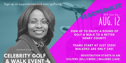 June Wood & Friends Celebrity Golf & Walk Event (VOLUNTEER SIGNUP)