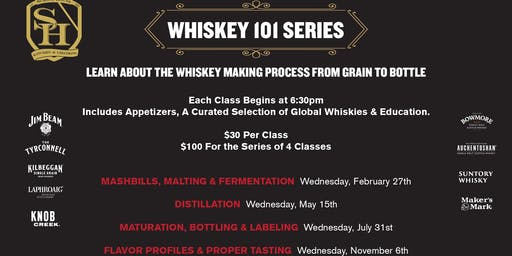 Whiskey 101 @ School House Kitchen & Libations