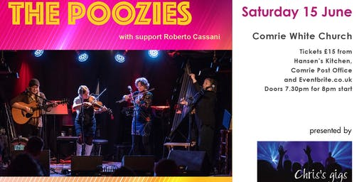 Poozies in Comrie with Roberto Cassani