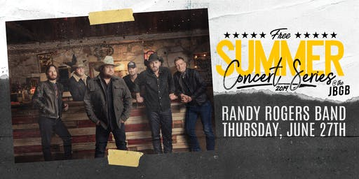 Randy Rogers Band live at JBGB June 27th