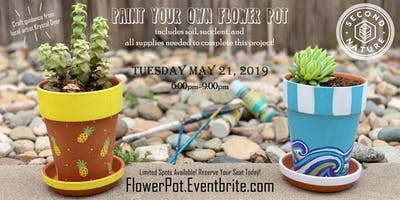 Paint your own flower pot class!