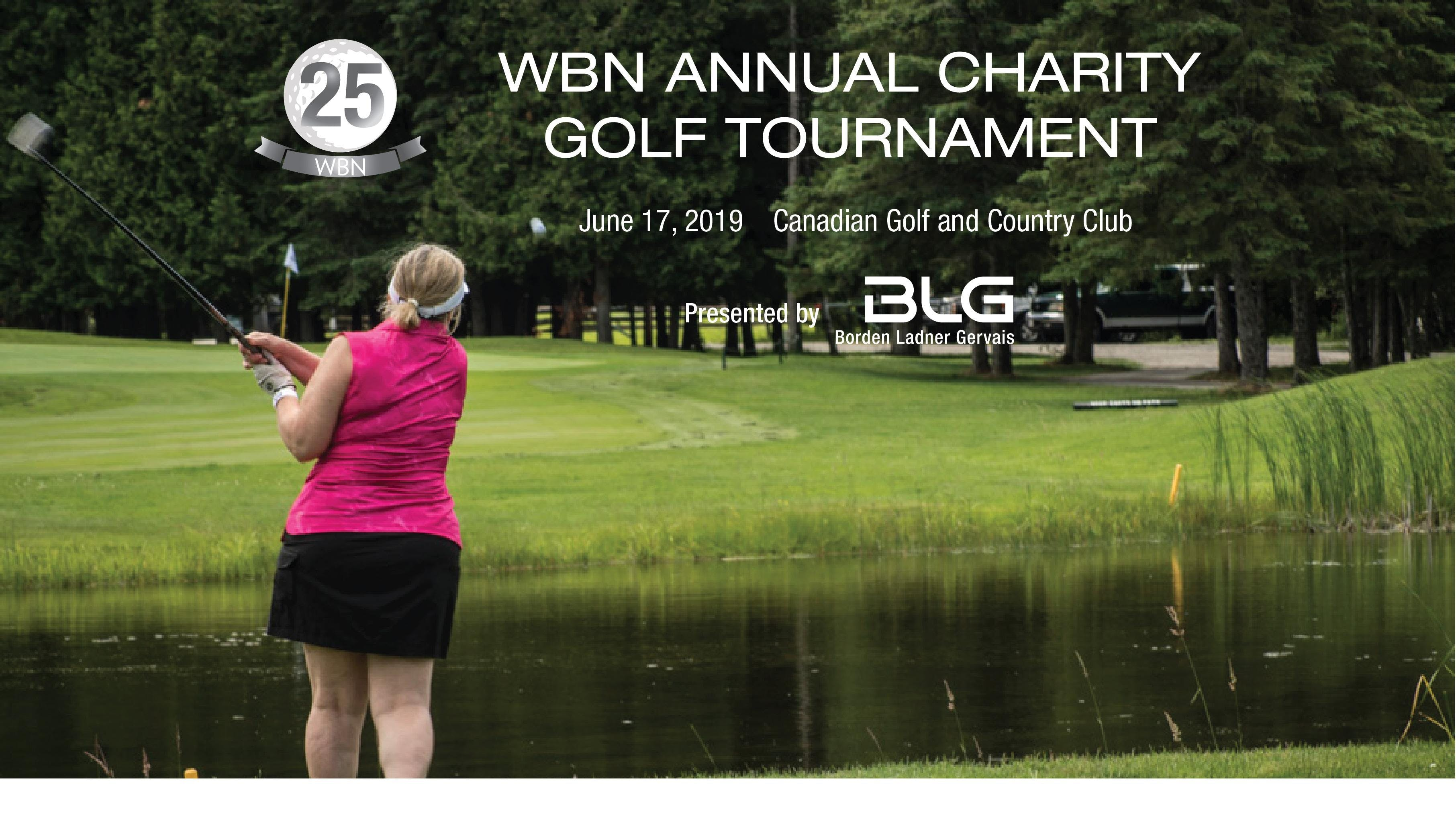 25th Annual WBN Charity Golf Tournament Presented by BLG