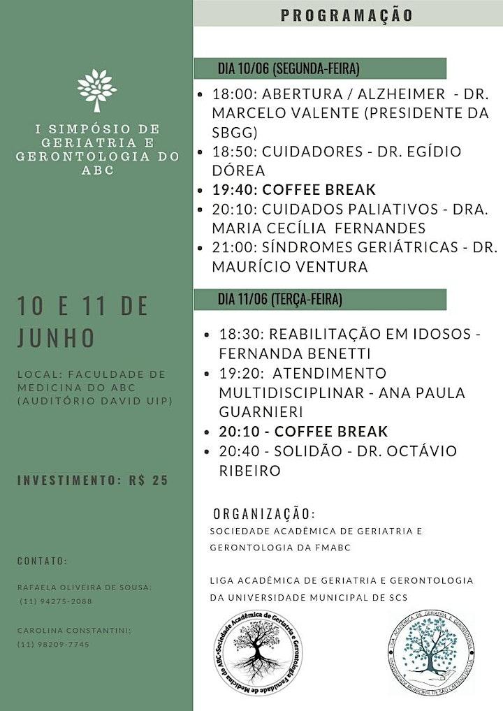 Imagem do evento 1º SIMPÓSIO DE GERIATRIA E GERONTOLOGIA DO ABC