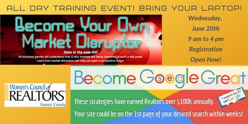 Be A Market Disruptor & Become Google Great - Earn $100K w/ Free Tools