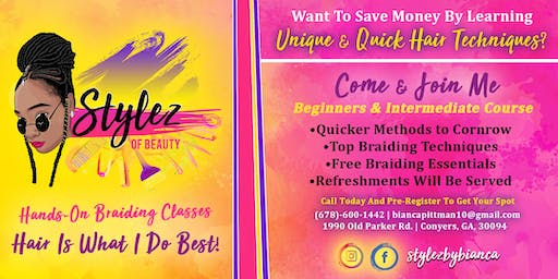 Stylez Of Beauty One on One Hands-On Braiding Classes