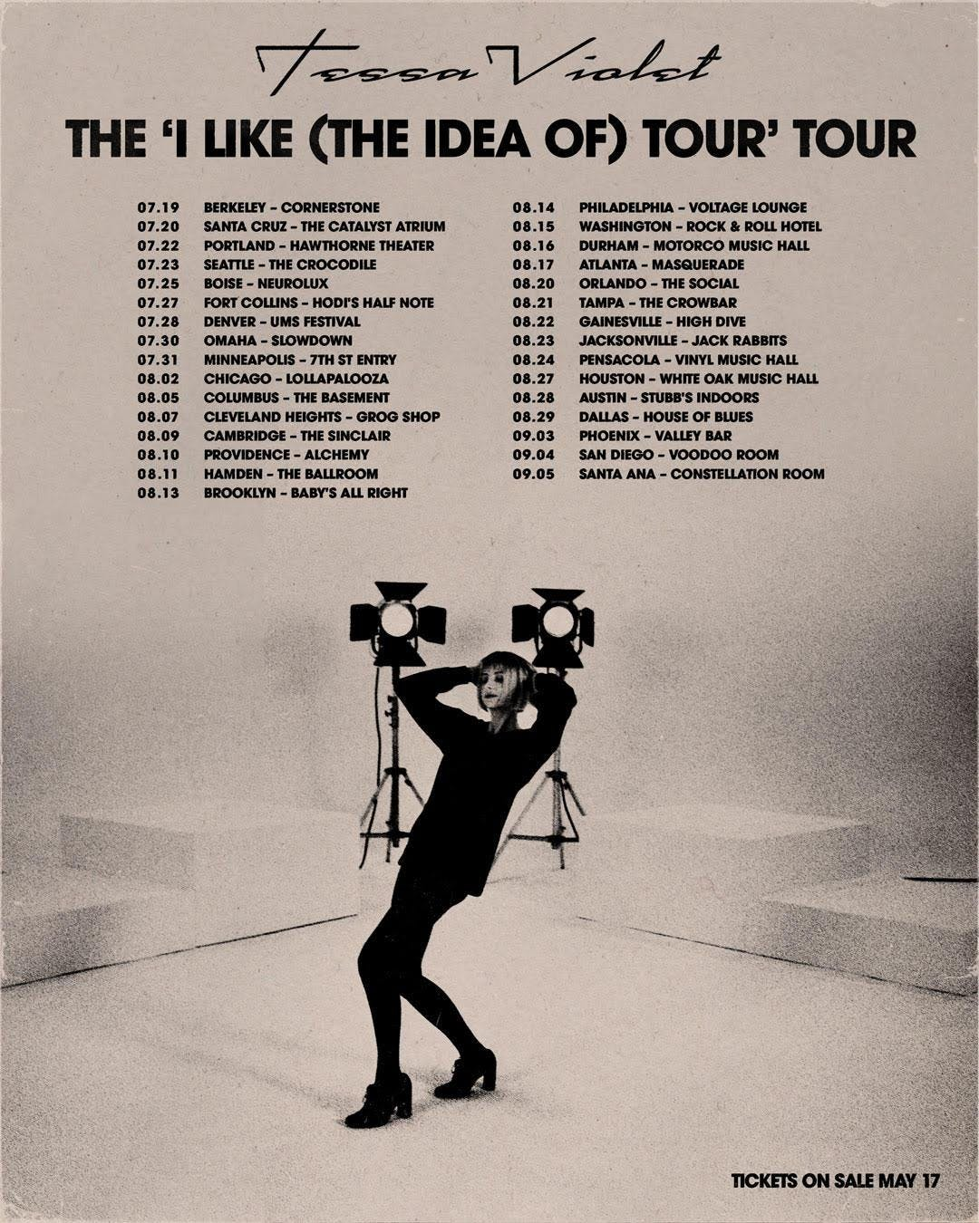 Tessa Violet 'I Like (the Idea of) Tour' Tour