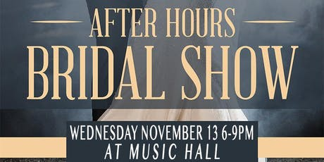 AFTERHOURS BRIDAL SHOW tickets