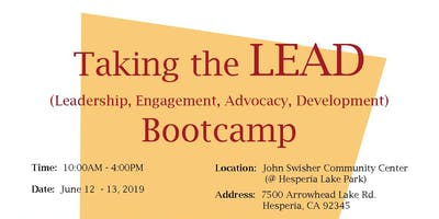 Taking the LEAD (Leadership, Engagement, Advocacy, Development Bootcamp)