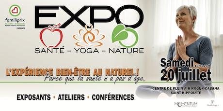 Expo Santé Yoga Nature 2019 billets