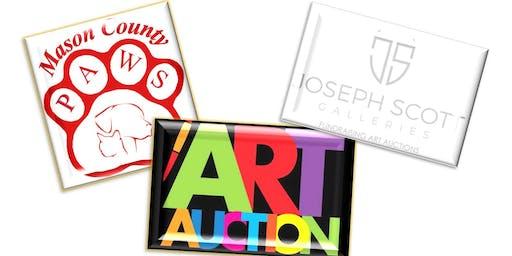 ART AUCTION,(by Joseph Scott Gallery, NY), to benefit Mason County PAWS