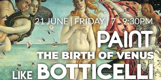 Paint 'The Birth of Venus' like Botticelli