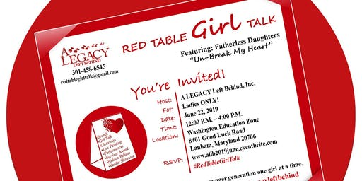 Red Table Girl Talk With Fatherless Daughter