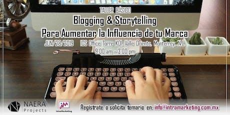 Taller Blogging & Storytelling para Aumentar la Influencia de tu Marca boletos