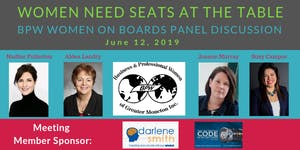 Women Need a Seat at the Table! BPW Greater Moncton...