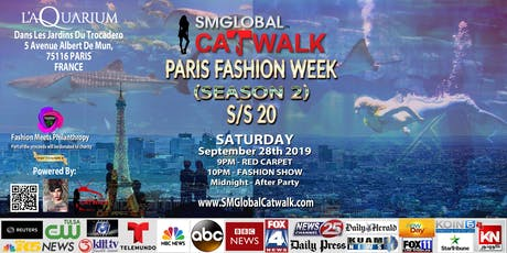 SMGlobal Catwalk - PARIS FASHION WEEK - Sept 28th 2019 billets