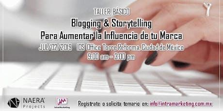 Taller Blogging & Storytelling para Aumentar la Influencia de tu Marca entradas