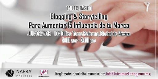 Taller Blogging & Storytelling para Aumentar la Influencia de tu Marca