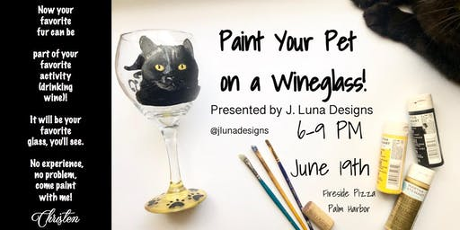 Paint Your Pet on a Wineglass!